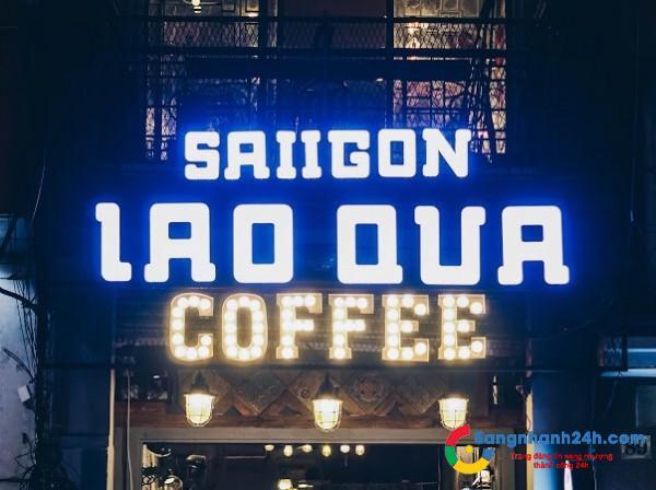 Cần sang quán cafe phong cách trẻ trung, mặt tiền đường, trung tâm quận 3.